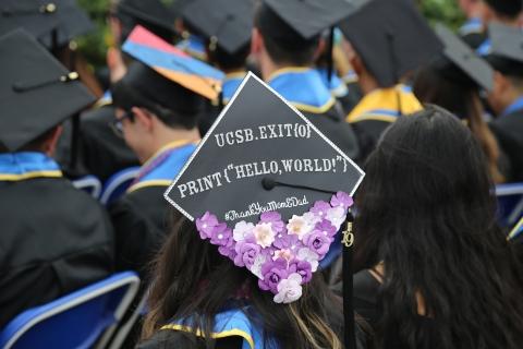 UCSB Graduation Cap, class of 2020