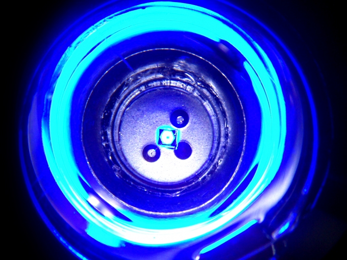 A blue LED