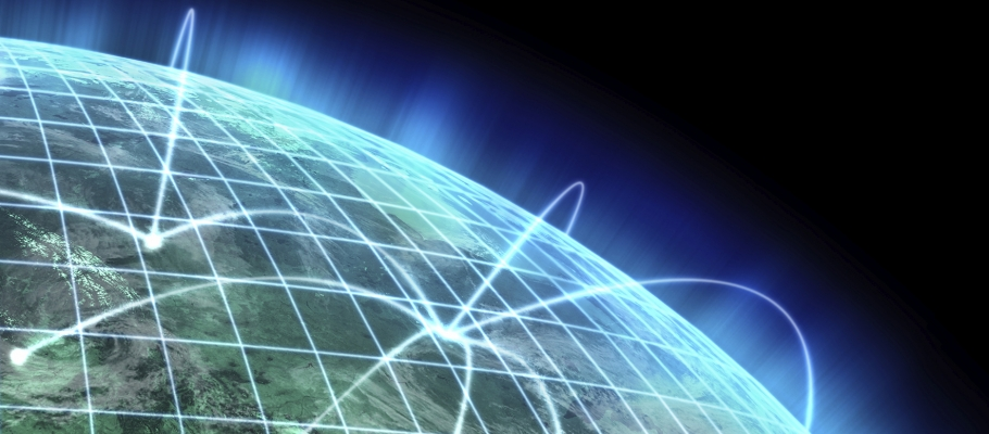 Concept art of global networks