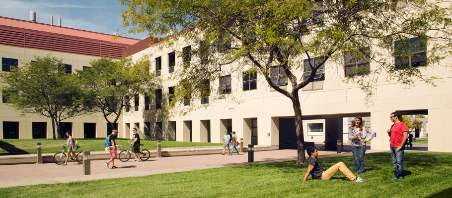 Courtyard of Engineering II building at UCSB