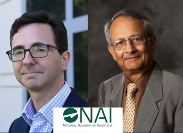 Newly Elected NAI Fellows Michael Chabinyc (left) and Sanjit Mitra