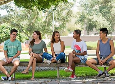International students enjoy the fresh air at UCSB.