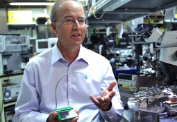 John Bowers in his lab