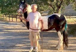 Robert Rankin with his horse
