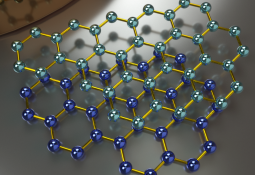 Illustration: concept of graphene molecules